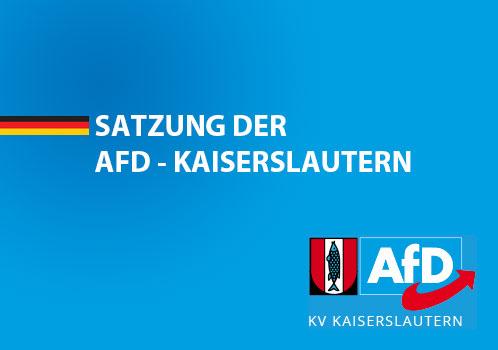 Satzung - AfD Kaiserslautern - Deckblatt