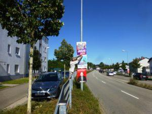 Plakatieren in KL